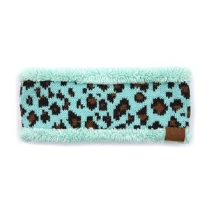 c.c Leopard Mint Headband